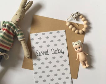 Card decoration - baby - boy - girl or mixed