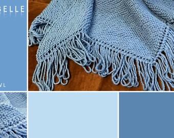 Blue Belle Fringe Shawl
