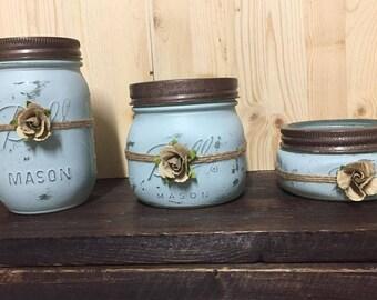 Rustic Mason Jar Organizer or Multifunctional Decor (Ball)