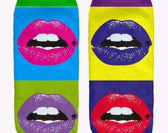 Pop Art Lips Ankle Socks
