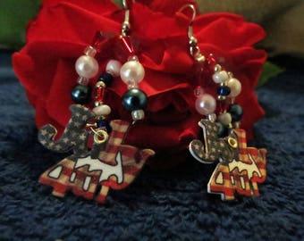 4th Of July Dangle Earrings