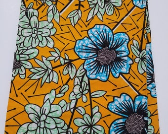 Yellow African Fabric; Ankara Fabric; African Clothing; African Fabric in yard; African Headwrap;Ankara Fabric in yards; Yellow Fabric