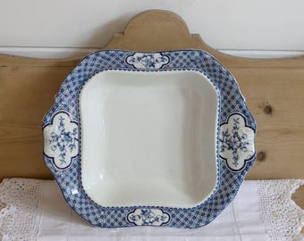 Blue and White Fruit bowl by Britannia Pottery, 1930s, Serving Bowl, Vegetable Dish