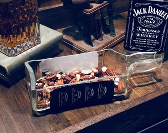 Jack Daniels Whiskey 1.75 Liter Ash Tray/Candy and Mix Dish/Serving Dish/Gift for Him/Gift for Her/Bar Decor/Groomsmen Best Man Gift