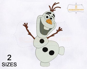 Funny and Happy Olaf Embroidery Design | 4x4 | 5x7 | 6x6 | 8x10 Hoop Embroidery Design | Olaf Embroidery Design