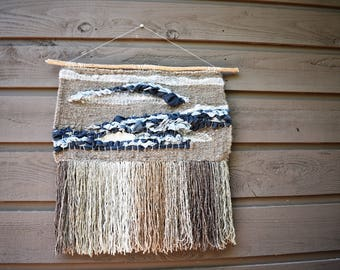 large woven wall hanging - wall weaving - woven wall art - house warming gift - gift for her - wall art - tapestry - home decor