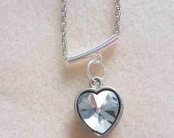 Love heart silver chain