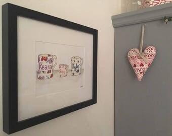 Bespoke Hand Drawings Emma Bridgewater Inspired