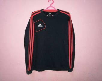 Rare!! Adidas Small Logo Spellout Embroidery Sweatshirt