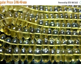 Huge!!!~100% Natural Lemon Quartz Smooth Beads Round Shape 6x16mm Approx 18''Inch Good Quality.