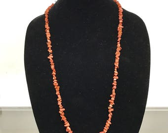"""Goldstone Chip Necklace - 36"""" Long"""