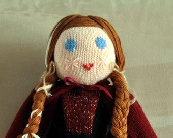 Wool Princess doll Anna Frozen snow Queen