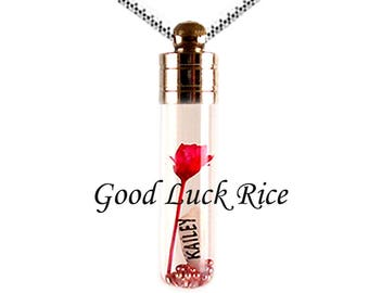 TUBE VIAL PENDANT. Best Price and Quality on Personalized Rice Jewelry!