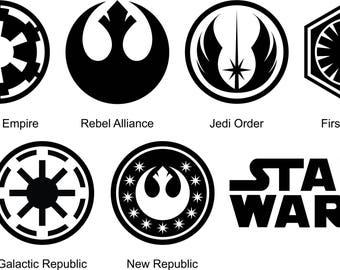 Star Wars Symbols Etsy