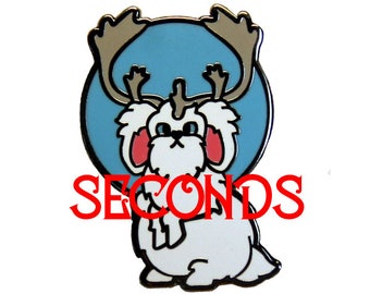 SECONDS - The Great Snowy Jackalope Hard Enamel Pin