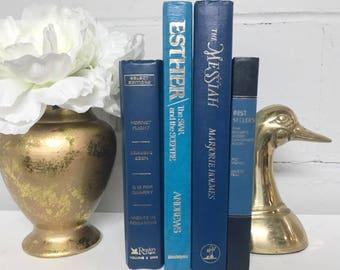 Navy Blue Decorative Book Set