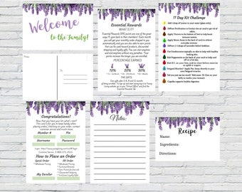 Lavender Essential Oils Welcome to the Family Kit, Essential Rewards Printable, Welcome Postcard, Marketing Kit, Instant Download, Printable