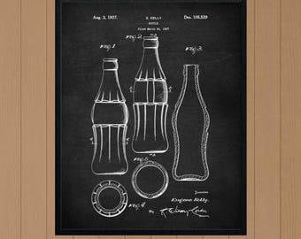 Coca Cola Bottle, Coke Bottle, coca-cola, Kitchen Art Print, Kitchen Decor, Kitchen Art, Kitchen Wall Decor, Kitchen Print, Kitchen Poster