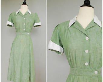 1940s/1950s vintage uniform dress