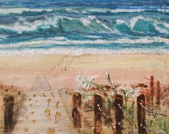 Digital D/load acrylic fine art Broadwalk to Atlantic Beach Culatra