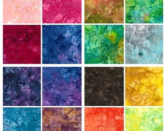 "Batik Fat Quarter packs .The full collection of 25 fat quarter 18""x22"" approx"