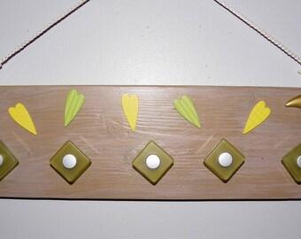 Accroche bijoux mural en bois rangement colliers bracelets foulards habits porte torchons serviettes