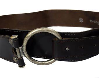 Vintage women belt real leather