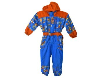 Vintage CHICCO Techno Snow System snowsuits snow ski Made in Italy hooded with belt 116 cm