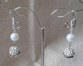 "Earrings ""pretty Pearl shamballa"""