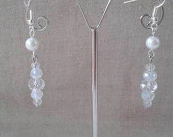 "Earrings ""Icicle pearls"""