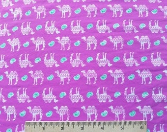 Camels and Paisleys Nylon Spandex Fabric