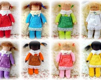 Waldorf soft- dress able- pocket dolls  (natural materials, cloth doll, child friendly, steiner doll, rag doll)