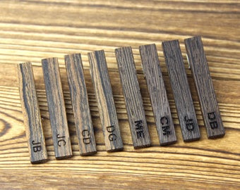 Tie Clip Wood Tie Clips Personalized Tie Clip Wooden Tie Bar Tack Personalized Tie Clip Wedding Gifts for Groom Gift for Groomsman Gift Set