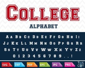 College Monogram Font Svg Sport Alphabet Svg Sport Letters Svg University Alphabet School Font Svg Outline Monogram Alphabet Svg Silhouette