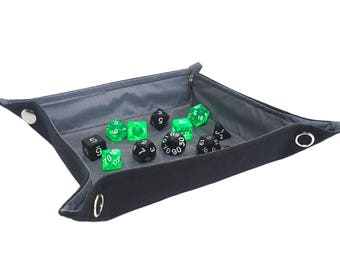 Gray Collapsible Dice Tray