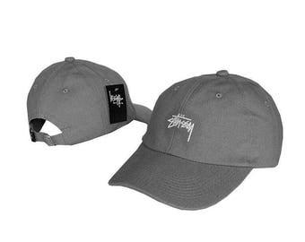 grey stussy baseball cap