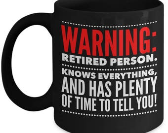 Retirement Mug - Funny Retirement Coffee Mugs - Retirement Gifts for Men, Man, Dad, Women, Parents - Retired Gifts - Retirement Party