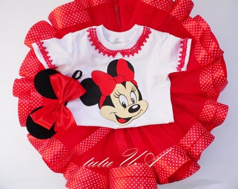 Minnie Mouse birthday outfit, birthday dress, Minnie Mouse dress, Minnie Mouse tutu, Minnie Mouse party, Minnie Mouse outfit birthday