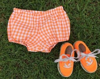 BLOOMERS// orange gingham
