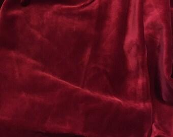 Berry red velvet fabric