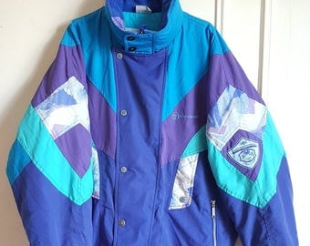 Jacket / large Sergio Tacchini Vintage 90s hooded jacket size L.