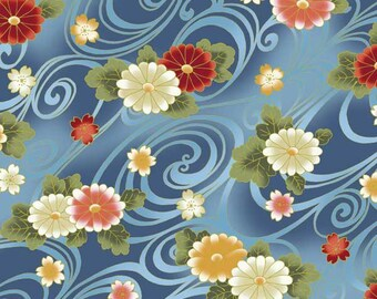 Japanese PATCHWORK KONA BAY HANA 04 DESIGN fabric