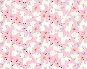 TISSU enfant rose  RILEY BLAKE Fabrics WOODLAND TRAILS