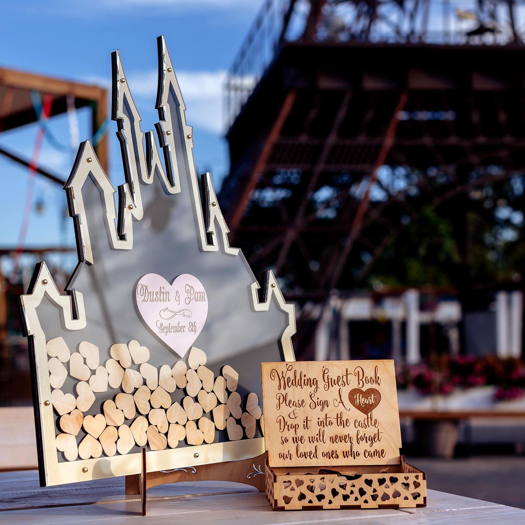 Unique Disney Wedding Guest Book Ideas: Disney Wedding Guest Book Alternative Mason Jar Wedding
