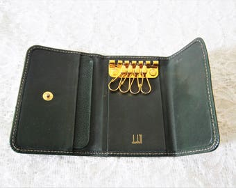 Dunhill Key Wallet in Green Leather