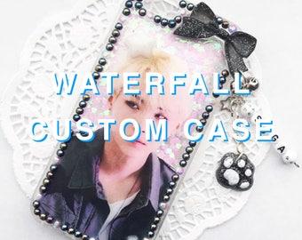 Custom Waterfall Decoden Case, Kpop Decoden Case, Kawaii Decoden Case