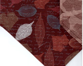 Stencil Leaves Bandana | Dog Bandana | Puppy Bandana | Over the Collar Dog Bandanas | Custom Dog Bandana
