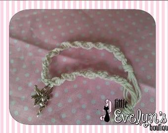 White Fairy Charm Hemp Bracelet