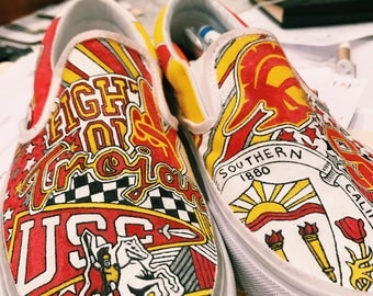 University of Southern California Custom Sneakers