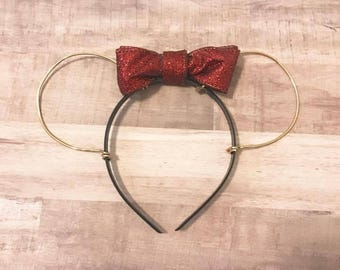 Red Bow Minnie Ears